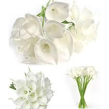 silk calla lilies 20 pcs artificial calla silk flowes muyee real