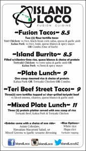 hawaiian fusion cuisine island loco menu traditional hawaiian and fusion cuisine