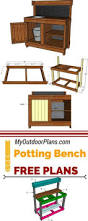 Free Wooden Potting Bench Plans by Awesome Potting Bench Plans Bench Plans Pallets And Gardens