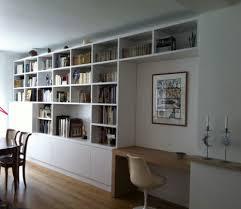 bureau bibliothèque intégré idées intérieur