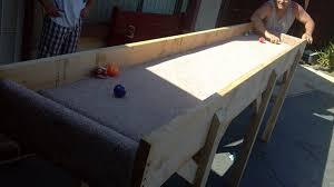 indoor carpet ball table carpet ball game by trucking36 lumberjocks com woodworking