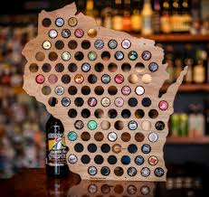 Wisconsin Winery Map by Wi Beer Cap Map U2014 Draft U0026 Vessel
