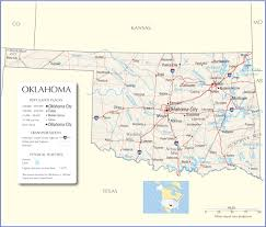 Time Zone Map Of United States by Oklahoma Map Oklahoma State Map Oklahoma State Road Map Map Of