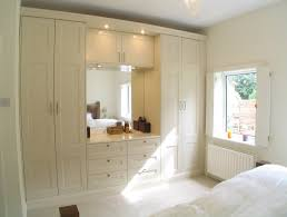 Small Bedroom Dresser With Mirror Furniture Built In Sleek Wardrobe Armoire Completed With