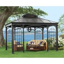 Outdoor Wrought Iron Chandelier by Exterior Wrought Iron Frame Hardtop Gazebo With Chandelier And