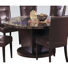 Acme Furniture Dining Room Set Danville Dining Table With Black Marble Top And Walnut Base By