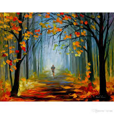 Modern Landscape 2018 Modern Landscape Paintings Morning Jog Leonid Afremov