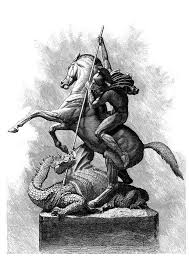 coloring page st george and the dragon img 11244