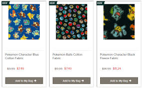 Joann Fabrics Website Pokemon Fabric Pkmncollectors