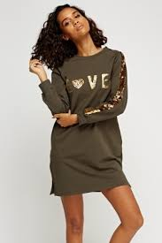 sequin embellished trim jumper dress just 5