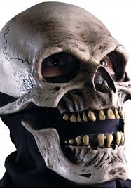 silver skull halloween mask death mask moving jaw skull mask escapade uk