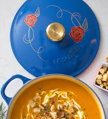 le creuset beauty and the beast robert dyer bethesda row beauty and the beast soup pot at le