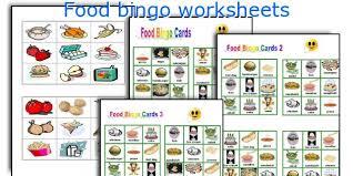 english teaching worksheets food bingo