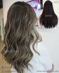light ash blonde balayage by salah hair haircolor balayage