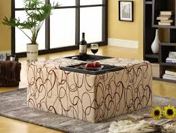 ottoman with 4 stools coffee table perfect and comfortable fabric ottoman coffee table