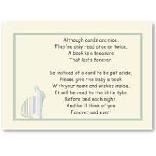 Books Instead Of Cards For Baby Shower Poem One Small Request That Won U0027t Be Too Hard Please Bring A Book