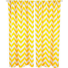 Yellow And Grey Curtain Panels Chevron Curtain Panel Yellow Polyvore