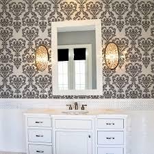 bathroom wall stencil ideas damask wall stencil modern wall stencils by stencils