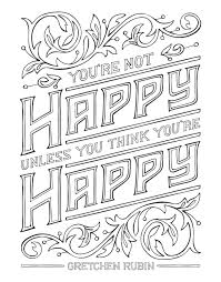 amazon com the happiness project mini posters a coloring book