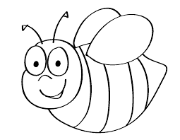 printable bumble bee coloring pages for kids page mask template