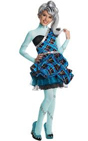 amazon com monster high sweet 1600 deluxe frankie stein costume