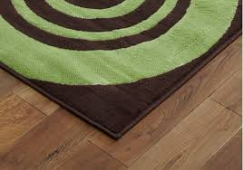 Modern Green Rugs by New Large Modern Halo Brown Green Rugs 120x170cm Best Quality Area