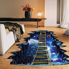 chambre pont enfant nouveau grand 3d espace cosmique mur autocollant galaxy étoiles pont