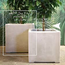 Modern Garden Planters Square Tree Planter Large Perfect To Enhance Any Modern Business