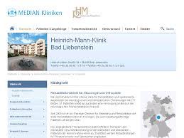 Weserklinik Bad Oeynhausen Heinrich Mann Klinik Bad Liebenstein Klinikprofil