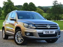 blue station wagon used 2016 volkswagen tiguan 2 0 tdi bluemotion tech match edition