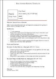 Sample Resume For Bartender by Barman Cv Example Cv Bartender English Resume Creator Template
