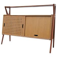 Oak Bar Cabinet Cerused Oak And Mahogany Bar Cabinet By Louis Paolozzi For René