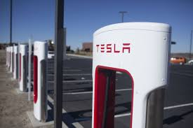 tesla charging tesla supercharger station up and running at visitor center