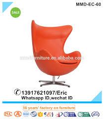 replica unique design swivel egg chair in orange buy replica egg