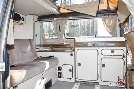 volkswagen eurovan camper interior volkswagen vanagon gl westy westfalia pop up camper