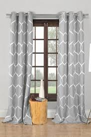 White Patterned Curtains And White Wrinkle Wave Pattern Panel Curtains