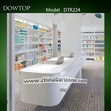 Retail Reception Desk Modern Gloss White Drug Store Pharmacy Retail Reception Desk View