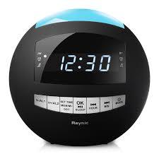 clock radio with night light raynic dual alarm clock radio sphere wireless bluetooth speaker w