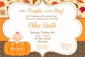 pumpkin invitation template fall baby shower invitations
