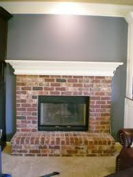white wash red brick fire place next project pinterest fire