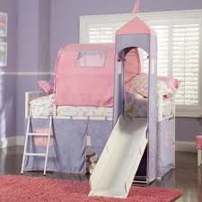 Bunk Bed With Slide And Tent Powell Princess Castle Size Tent Bunk Bed With Slide 374 069