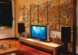 Wood Panel Wall Decor by Wall Decoration Artistic Japanese Interior Design With 3d Wall