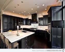 Black Cabinets White Countertops Black Kitchen Cabinets Pictures Dansupport