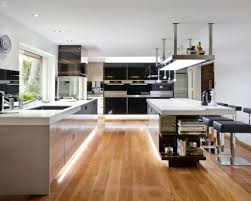 commercial kitchens remodeling miami with light oak wood flooring