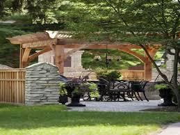 pergola with privacy wall incredibly beautiful backyard pergolas
