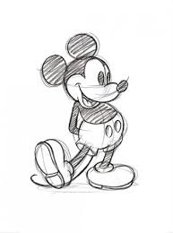mickey mouse sketch walt disney print buy