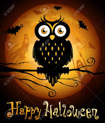 halloween background free clipart halloween illustration owl silhouette on moon background royalty