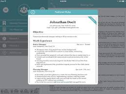 Best Resume Template For Ipad by 7 Cheap Or Free Resume Builder Apps