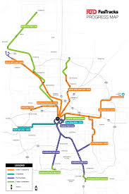 Valley Metro Light Rail Map by Fastracks And Commuter Rail