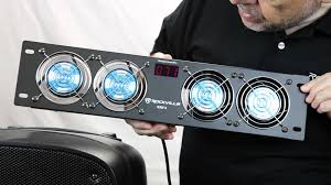 home theater cooling rockville rrf4 19 rack mount 4 fan cooling system youtube